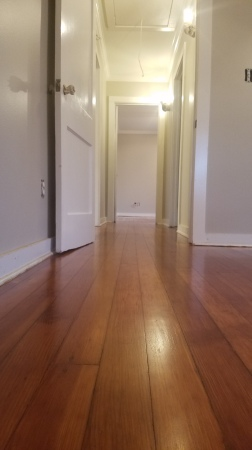 Older heart pine floor refinished in Georgetown.
