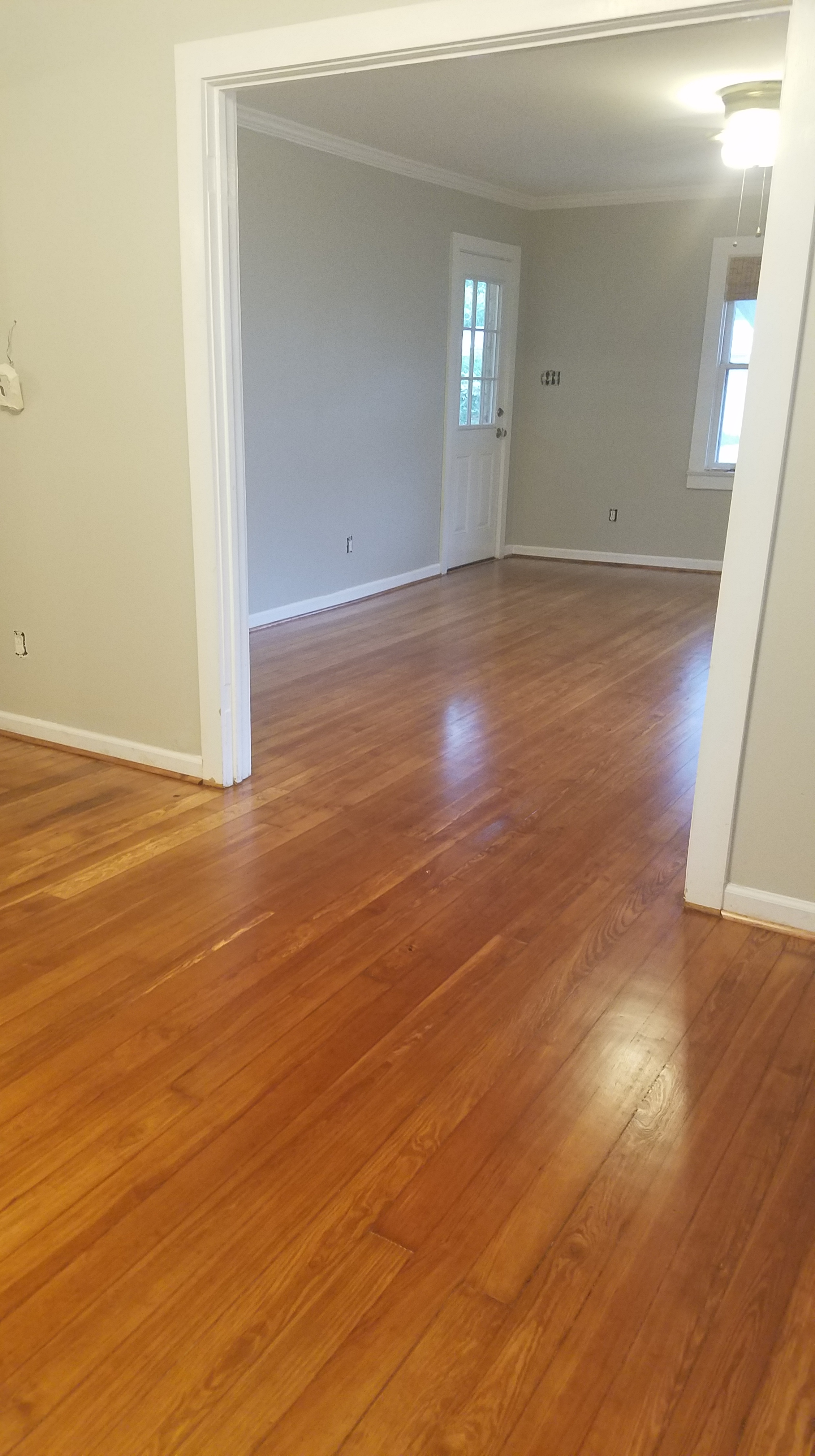 older heart pine floor refinished in georgetown